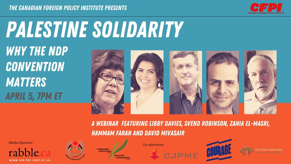 """Libby Davies' So-called """"Mistake,"""" the NDP, and Israel-Palestine"""